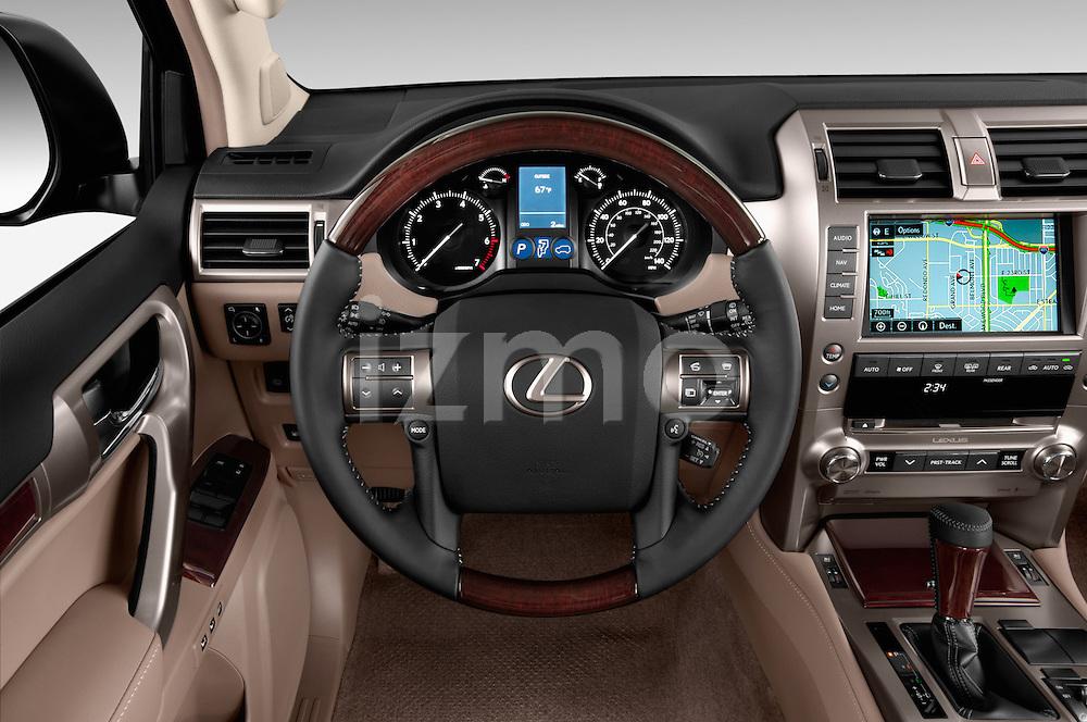 Car pictures of steering wheel view of a 2018 Lexus GX 460 5 Door SUV Steering Wheel