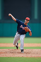 Atlanta Braves pitcher Freddy Tarnok (64) delivers a pitch during a Florida Instructional League game against the Canadian Junior National Team on October 9, 2018 at the ESPN Wide World of Sports Complex in Orlando, Florida.  (Mike Janes/Four Seam Images)