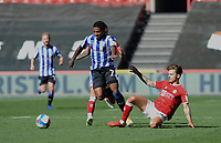 Sheffield Wednesday's Kadeem Harris is fouled by Bristol City's Jamie Paterson<br /> <br /> Photographer Ian Cook/CameraSport<br /> <br /> The EFL Sky Bet Championship - Bristol City v Sheffield Wednesday - Sunday 27th September, 2020 - Ashton Gate - Bristol<br /> <br /> World Copyright © 2020 CameraSport. All rights reserved. 43 Linden Ave. Countesthorpe. Leicester. England. LE8 5PG - Tel: +44 (0) 116 277 4147 - admin@camerasport.com - www.camerasport.com