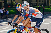 18th July 2021; Paris, France;  STUYVEN Jasper (BEL) of TREK - SEGAFREDO and VAN AERT Wout (BEL) of JUMBO-VISMA during stage 21 of the 108th edition of the 2021 Tour de France cycling race, the stage of 108,4 kms between Chatou and finish at the Champs Elysees in Paris.