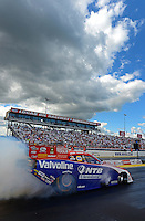 Sept 9, 2012; Clermont, IN, USA: NHRA funny car driver Johnny Gray during the US Nationals at Lucas Oil Raceway. Mandatory Credit: Mark J. Rebilas-