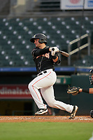 Jupiter Hammerheads Nick Fortes (7) at bat during a Florida State League game against the Lakeland Flying Tigers on August 12, 2019 at Roger Dean Chevrolet Stadium in Jupiter, Florida.  Jupiter defeated Lakeland 9-3.  (Mike Janes/Four Seam Images)