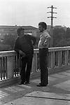"MANUEL DE SICA CON FRANCO CITTI<br /> SUL SET DE ""L'EROE"" DI MANUEL DE SICA ROMA 1974"