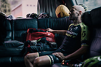Svein Tuft (CAN/Mitchelton-Scott) zoning in before the stage start<br /> <br /> stage 20: Susa - Cervinia (214km)<br /> 101th Giro d'Italia 2018
