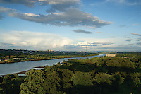 The River Clyde and Glasgow from the Erskine Bridge, Renfrewshire<br /> <br /> Copyright www.scottishhorizons.co.uk/Keith Fergus 2011 All Rights Reserved