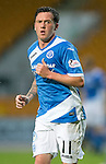 St Johnstone v Hearts…10.08.16..  McDiarmid Park…BetFred Cup<br />Danny Swanson<br />Picture by Graeme Hart.<br />Copyright Perthshire Picture Agency<br />Tel: 01738 623350  Mobile: 07990 594431