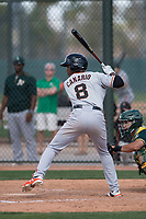 San Francisco Giants shortstop Alexander Canario (6) during a Minor League Spring Training game against the Oakland Athletics at Lew Wolff Training Complex on March 26, 2018 in Mesa, Arizona. (Zachary Lucy/Four Seam Images)