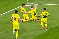 26th May 2021; STADION GDANSK  GDANSK, POLAND; UEFA EUROPA LEAGUE FINAL, Villarreal CF versus Manchester United:  GERARD MORENO celebrates as after scoring his goal for 1-0