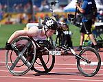 Ilana Dupont, Toronto 2015 - Para Athletics // Para-athlétisme.<br /> Ilana Dupont competes in the Women's 800m T53 Final // Ilana Dupont participe à la finale du 800 m T53 féminin. 13/08/2015.