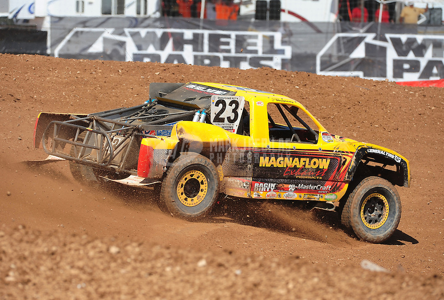 Apr 17, 2011; Surprise, AZ USA; LOORRS driver Jerry Daugherty during round 4 at Speedworld Off Road Park. Mandatory Credit: Mark J. Rebilas-