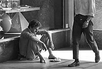 - beggar in Milan downtown<br /> <br /> - mendicante nel centro di Milano
