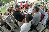 Jess Jackson meets with the media during the draw for post positions for the 2009 Travers Stakes at Saratoga.
