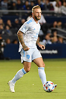 KANSAS CITY, KS - MAY 29: Johnny Russell #7 Sporting KC with the ball during a game between Houston Dynamo and Sporting Kansas City at Children's Mercy Park on May 29, 2021 in Kansas City, Kansas.