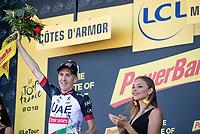 stage winner Daniel Martin (IRL/UAE) taking his 2nd Tour stage win<br /> <br /> Stage 6: Brest > Mûr de Bretagne / Guerlédan (181km)<br /> <br /> 105th Tour de France 2018<br /> ©kramon