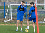 St Johnstone Training….06.10.20     <br />Jason Kerrand Callum Booth pictured during training at McDiarmid Park this morning ahead of tomorrow nights Betfred Cup game against Kelty Hearts.<br />Picture by Graeme Hart.<br />Copyright Perthshire Picture Agency<br />Tel: 01738 623350  Mobile: 07990 594431