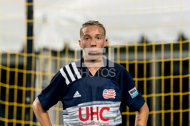 FOXBOROUGH, MA - SEPTEMBER 09: Diego Souza #56 of New England Revolution II in game portrait during a game between Chattanooga Red Wolves SC and New England Revolution II at Gillette Stadium on September 09, 2020 in Foxborough, Massachusetts.