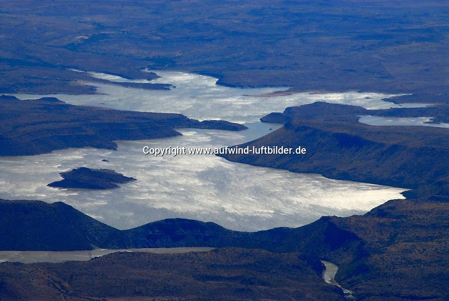 4415 / Stausee: AFRIKA, SUEDAFRIKA, 12.01.2007:Vanderkloof Dam, Stausee, Orange River Projekt, Wasserkraft am Orange River, Stromerzeugung, Wasserversorgung