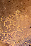 Petroglyphs, Chaco Culture National Historic Park, New Mexico, USA