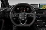 Steering wheel view of a 2019 Audi S4 Premium Plus 4 Door Sedan