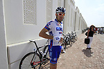FDJ-Bigmat team rider hydrates before the start of Stage 1 of the Tour of Qatar 2012 running 142.5km from Barzan Towers to Doha Golf Club, Doha, Qatar. 5th February 2012.<br /> (Photo by Eoin Clarke/NEWSFILE).