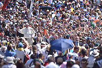 Pope Francis during the canonization of Mother Teresa of Kolkata, on Saint Peter square at the Vatican, on September 4, 2016.