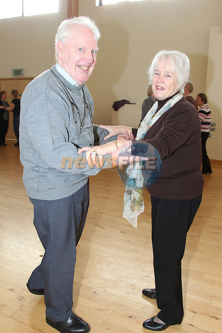 Patrick and Mary Matthews.at the dancing classes in Ballsgrove community centre..Picture: Fran Caffrey / www.newsfile.ie ..
