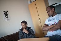 Left: Abrhale, refugee from Eritrea.<br /> On the right: Temsgen, refugee from Eritrea.<br /> 13.2.2015, Dresden<br /> Copyright: Christian-Ditsch.de<br /> [Inhaltsveraendernde Manipulation des Fotos nur nach ausdruecklicher Genehmigung des Fotografen. Vereinbarungen ueber Abtretung von Persoenlichkeitsrechten/Model Release der abgebildeten Person/Personen liegen nicht vor. NO MODEL RELEASE! Nur fuer Redaktionelle Zwecke. Don't publish without copyright Christian-Ditsch.de, Veroeffentlichung nur mit Fotografennennung, sowie gegen Honorar, MwSt. und Beleg. Konto: I N G - D i B a, IBAN DE58500105175400192269, BIC INGDDEFFXXX, Kontakt: post@christian-ditsch.de<br /> Bei der Bearbeitung der Dateiinformationen darf die Urheberkennzeichnung in den EXIF- und  IPTC-Daten nicht entfernt werden, diese sind in digitalen Medien nach §95c UrhG rechtlich geschuetzt. Der Urhebervermerk wird gemaess §13 UrhG verlangt.]