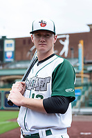 Fort Wayne TinCaps catcher Blake Hunt (12) poses for a photo before a Midwest League game against the Kane County Cougars at Parkview Field on May 1, 2019 in Fort Wayne, Indiana. (Zachary Lucy/Four Seam Images)