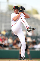 Sammy Solis was the winning pitcher for the Scottsdale Scorpions, who defeated the Peoria Javelinas, 3-2, to win the Arizona Fall League championship at Scottsdale Stadium, Scottsdale, AZ - 11/20/2010.Photo by:  Bill Mitchell/Four Seam Images..