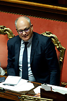 Roberto Gualtieri minister of Economy<br /> Rome September 10th 2019. Senate. Discussion and Trust vote at the new Government. <br /> Foto  Samantha Zucchi Insidefoto