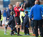 Kilmarnock v St Johnstone...05.04.14    SPFL<br /> Steven Anderson applauds the fans at full time<br /> Picture by Graeme Hart.<br /> Copyright Perthshire Picture Agency<br /> Tel: 01738 623350  Mobile: 07990 594431