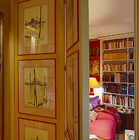 A small misshapen room, the Red Library is concealed behind a secret door