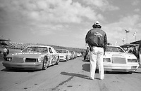 cars lined up for 125 mile qualifying race before Daytona 500 at Daytona International Speedway in Daytona Beach, FL in February 1985. (Photo by Brian Cleary/www.bcpix.com) Daytona 500, Daytona International Speedway, Daytona Beach, FL, February 1985. (Photo by Brian Cleary/www.bcpix.com)