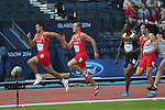 Glasgow 2014 Commonwealth Games<br /> Men's Decathlon 100m Heats<br /> David Guest & Curtis Matthews (Wales)<br /> <br /> 28.07.14<br /> ©Steve Pope-SPORTINGWALES