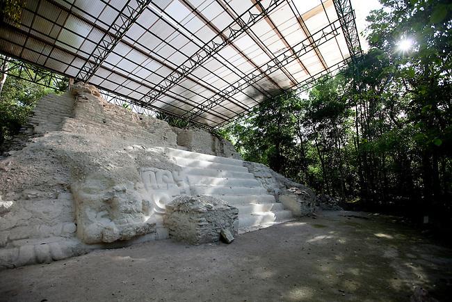 """Temple """"El Jaguar"""" at Mirador archeological site."""