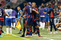 KANSAS CITY, KS - JULY 11: Daryl Dike #11 of the United States during a game between Haiti and USMNT at Children's Mercy Park on July 11, 2021 in Kansas City, Kansas.