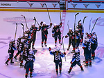 December 14, 2019:  Game one goes to team USA 4-1 in the Rivalry Series. The feisty opening game of a five-match series took at the XL Center in Hartford, Connecticut. Cohen/Eclipse Sportswire/CSM