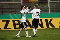 Torjubel Toni Kroos mit Sebastian Rudy<br /> Deutschland vs. Finnland, U19-Junioren<br /> *** Local Caption *** Foto ist honorarpflichtig! zzgl. gesetzl. MwSt. Auf Anfrage in hoeherer Qualitaet/Aufloesung. Belegexemplar an: Marc Schueler, Am Ziegelfalltor 4, 64625 Bensheim, Tel. +49 (0) 151 11 65 49 88, www.gameday-mediaservices.de. Email: marc.schueler@gameday-mediaservices.de, Bankverbindung: Volksbank Bergstrasse, Kto.: 151297, BLZ: 50960101