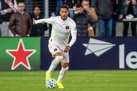 WASHINGTON, DC - MARCH 07: Nicolás Figal #5 of Inter Miami moves into the ttack during a game between Inter Miami CF and D.C. United at Audi Field on March 07, 2020 in Washington, DC.