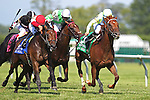 July 18, 2015: Syntax (IRE), Junior Alvarado up, wins the grade III Kent Stakes, one and 1/8 miles on the turf for 3 year olds at Delaware Park in Stanton DE.  Trainer is Bill Mott, owner is Randle Glosson.Joan Fairman Kanes/ESW/CSM