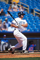 Lake County Captains first baseman Anthony Miller (28) at bat during a game against the South Bend Cubs on July 27, 2016 at Classic Park in Eastlake, Ohio.  Lake County defeated South Bend 5-4.  (Mike Janes/Four Seam Images)