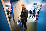 Lowestoft Town 2 Barrow 3, 25/04/2015. Crown Meadow, Conference North. Barrow make the six-hour trip to Suffolk needing a win to secure the title. Retiring Lowestoft Town manager Micky Chapman makes his way to the changing rooms after the game. Photo by Simon Gill.