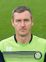 Goalkeeper / Coach Barry Richardson of Wycombe Wanderers during the Wycombe Wanderers 2016/17 Team & Individual Squad Photos at Adams Park, High Wycombe, England on 1 August 2016. Photo by Jeremy Nako.