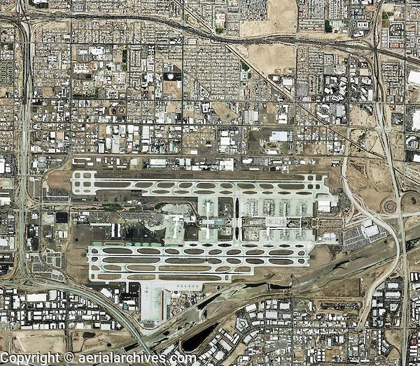 aerial map of Phoenix Sky Harbor International Airport, Phoenix, Arizona