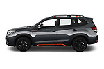 Car Driver side profile view of a 2021 Subaru Forester e-Boxer-Sport 5 Door SUV Side View