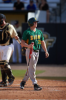 Siena Saints right fielder Carlos Tapia (29) at bat during a game against the UCF Knights on February 21, 2016 at Jay Bergman Field in Orlando, Florida.  UCF defeated Siena 11-2.  (Mike Janes/Four Seam Images)