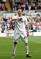 Npower Championship, Swansea City FC (white) V Sheffield United. Sat 7th May 2011 (12.45pm KO)<br /> Pictured: Stephen Dobbie puts the Swans three nil up<br /> Picture by: Ben Wyeth / Athena Picture Agency<br /> info@athena-pictures.com<br /> 07815 441513