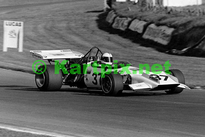 Roger Williamson at the wheel of the Kitchmac - Chevrolet Kitchiner V8 FORMULA 5000 at Brands Hatch in 1972.<br /> Rothmans F5000 Championship round