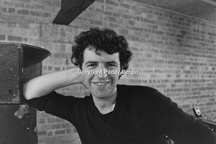 Portrait of Paddy Bergin in the 70s.<br /> <br /> Stock Photo by Paddy Bergin