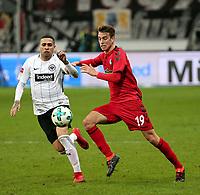 13.01.2018, Commerzbank - Arena, Frankfurt, GER, 1.FBL, Eintracht Frankfurt vs SC Freiburg<br /> , <br />Omar Mascarell (Frankfurt), Janik Haberer (Freiburg) *** Local Caption *** © pixathlon<br /> Contact: +49-40-22 63 02 60 , info@pixathlon.de